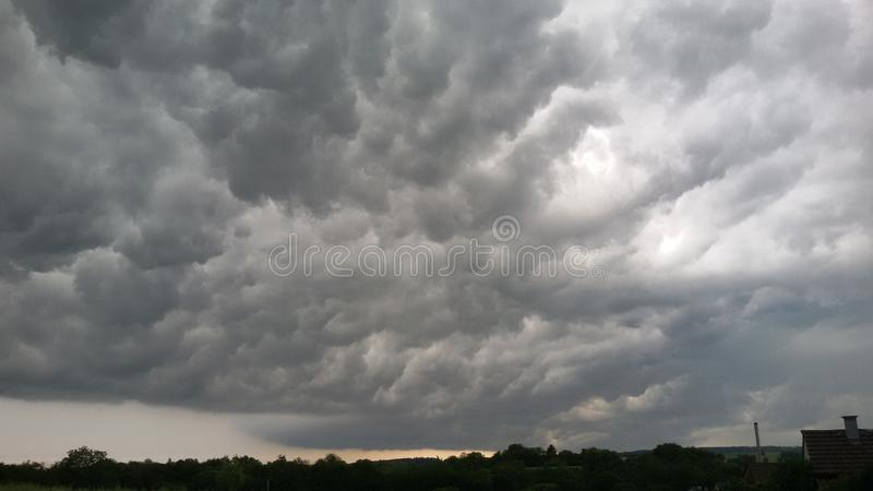 Großartige Wolkenformationen fotos de archivo