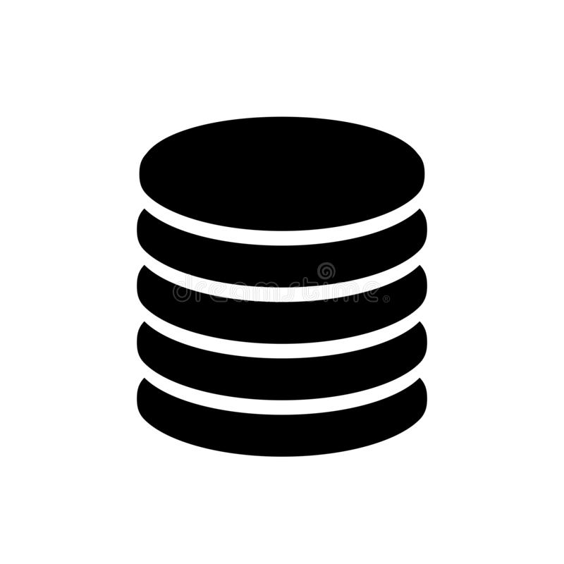 """Große Datenbank, Datenspeicherungsstorage technology Ikone †""""Vektor vektor abbildung"""