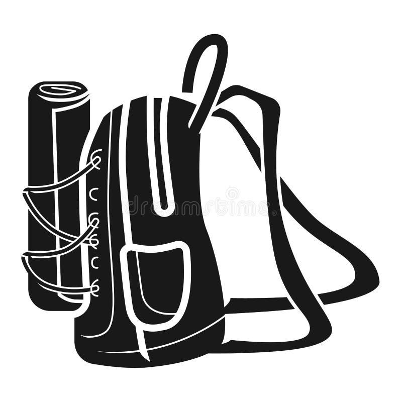 Große Rucksackseitenikone, einfache Art lizenzfreie abbildung