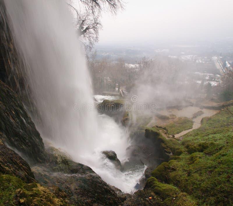 Großer Wasserfall an Edessa-Fällen in Griechenland lizenzfreies stockbild