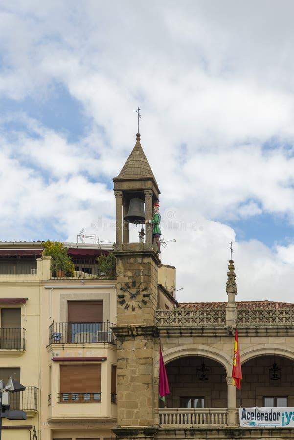 Großvater Mayorga, Automat gelegen auf dem Dach des consistorial Hauses, stockfotos
