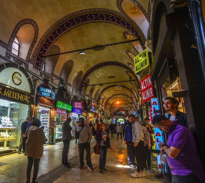 Gro?artiger Basar in Istanbul, die T?rkei lizenzfreie stockfotografie