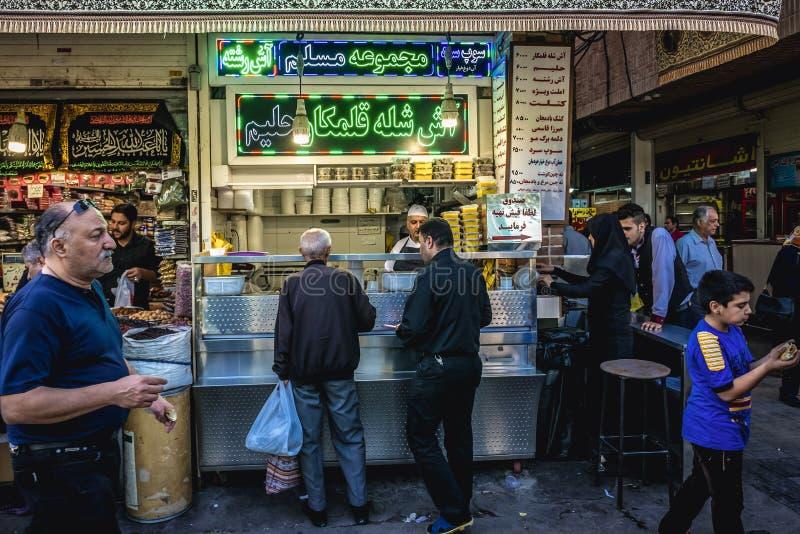 Gro?artiger Basar in Teheran stockfotos