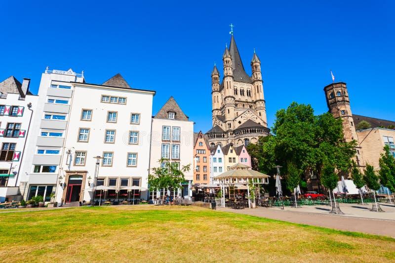 Gro?e St- Martinkirche, Cologne stockbild