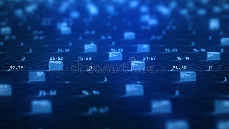 Gro?es Daten-Sichtbarmachungs-Konzept Lernf?higkeit- einer Maschinealgorithmen Analyse von Informationen Technologiedaten- und -b stock abbildung