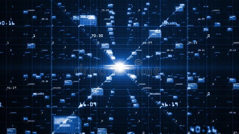 Gro?es Daten-Sichtbarmachungs-Konzept Lernf?higkeit- einer Maschinealgorithmen Analyse von Informationen Technologiedaten- und -b vektor abbildung