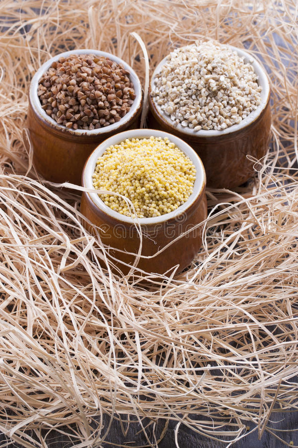 Download Groats stock image. Image of buckwheat, pearled, wooden - 33588111