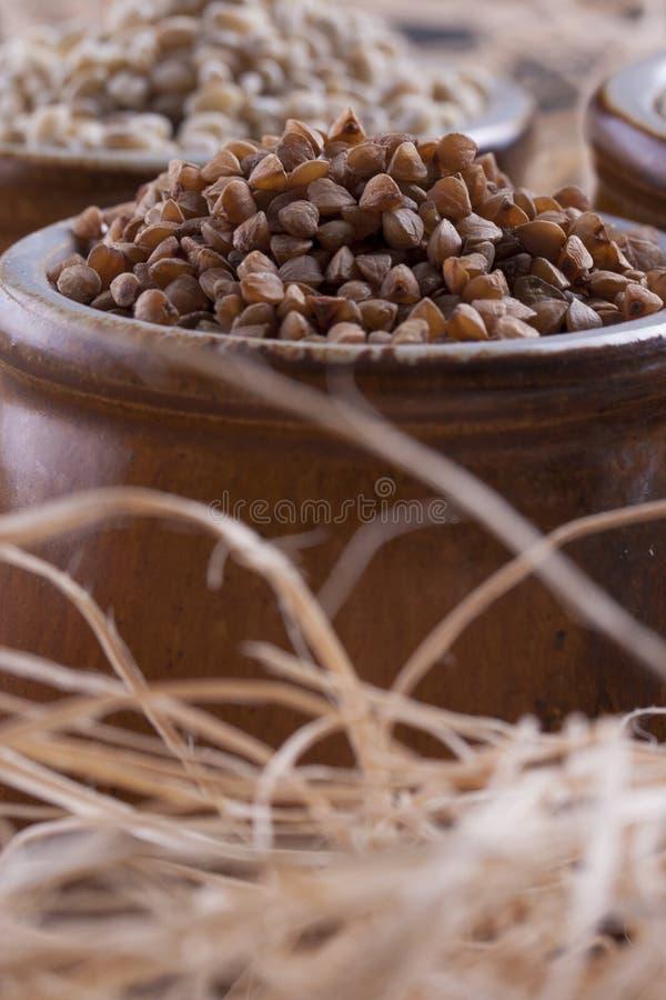 Download Groats stock image. Image of wood, up, wooden, buckwheat - 33603165