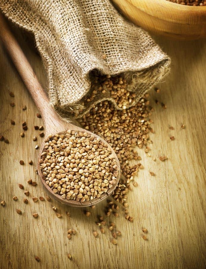 Groats de trigo mourisco fotografia de stock
