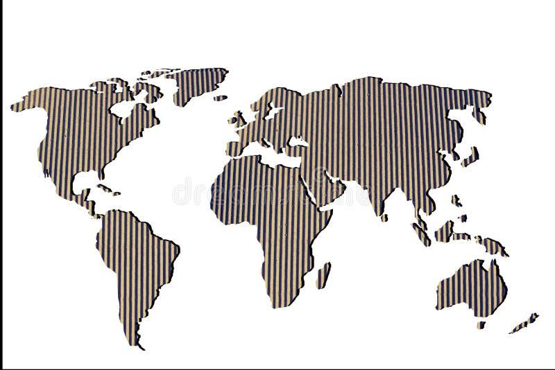 Grob skizziert Weltkarte mit Mustern lizenzfreie stockfotos