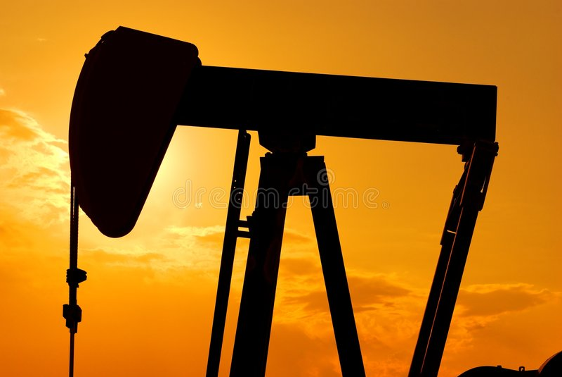 Grobe Öl-Extraktion stockfotos