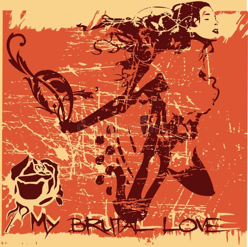 Grobe Liebe vektor abbildung