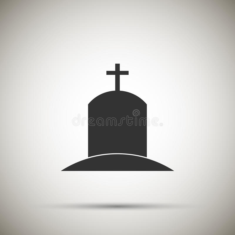 Grobowcowa ikona ilustracji