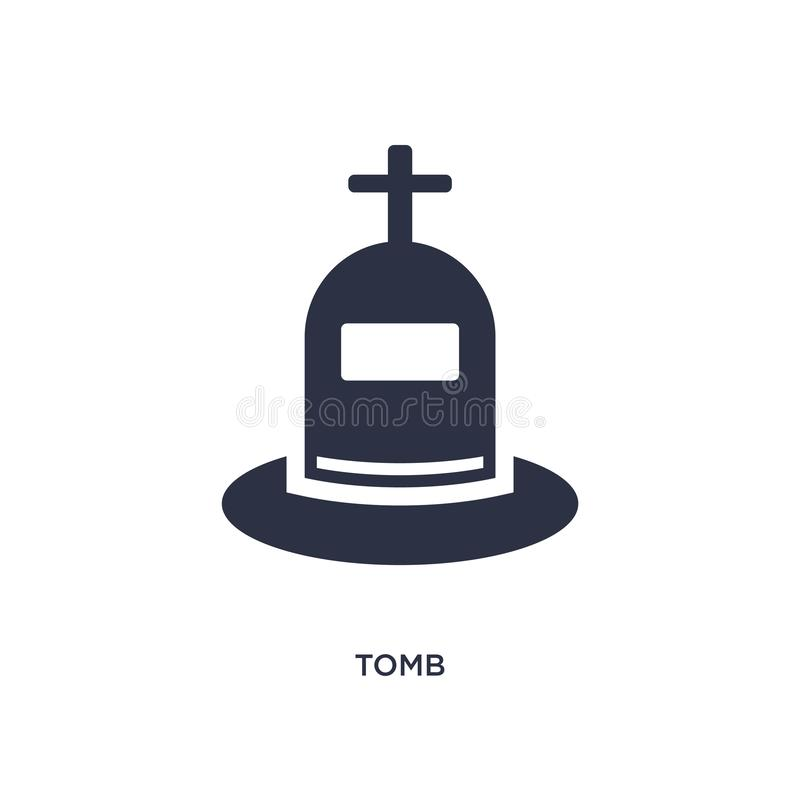 grobowcowa ikona na białym tle Prosta element ilustracja od historii pojęcia ilustracja wektor
