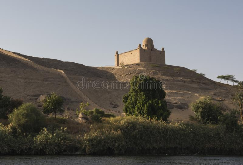 Grobowiec agi Khan mauzoleum w Aswan Egipt fotografia royalty free