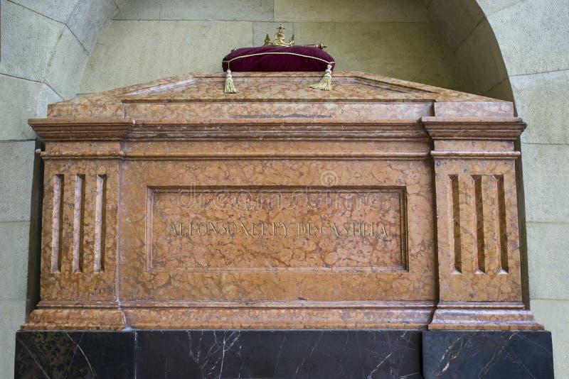 Grobowiec Alfonso XI. Castile przy Królewskim Uczelnianym kościół Świątobliwy Hippolytus, cordoba, Hiszpania zdjęcie royalty free