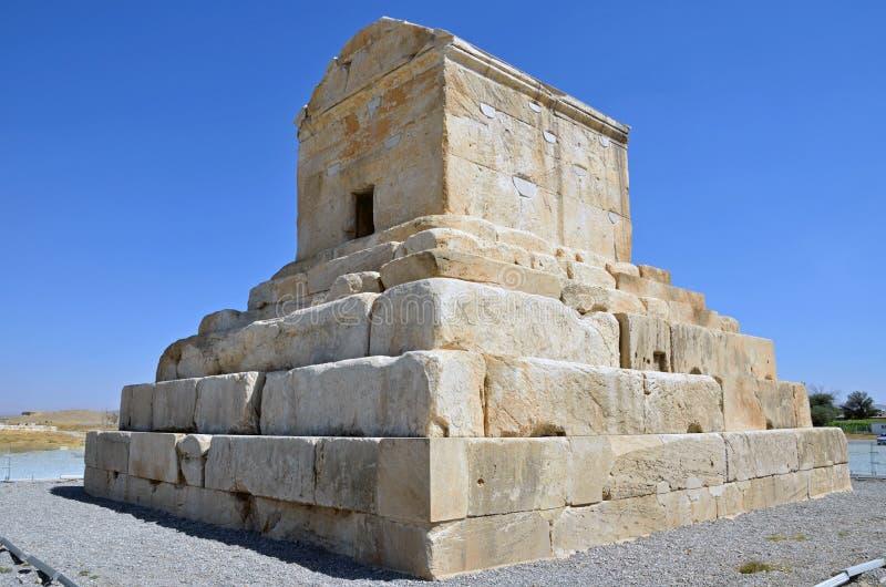 Grobowiec Cyrus Wielki obrazy stock