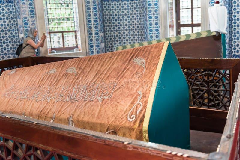 Grobowiec Hurrem w Suleymaniye meczecie, Istanbuł (Roksolana) fotografia stock