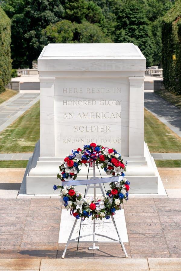 Grobowiec Niewiadomy żołnierz przy Arlington Krajowym cmentarzem zdjęcie stock