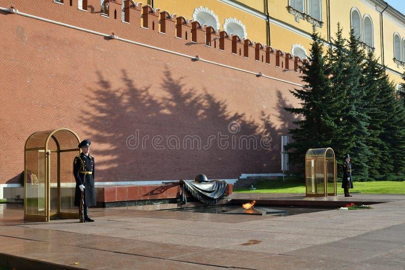 grobowiec nieznanego żołnierza moscow Rosja zdjęcie stock