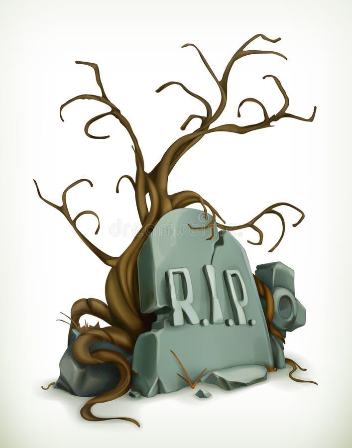 Grobowiec, odpoczynek w pokoju ilustracji