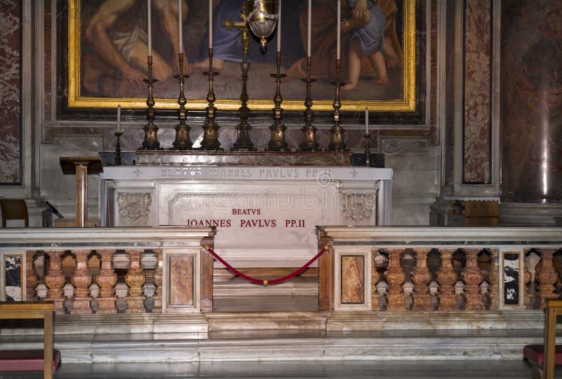 Grobowiec Pope John Paul II vatican Włochy zdjęcie royalty free