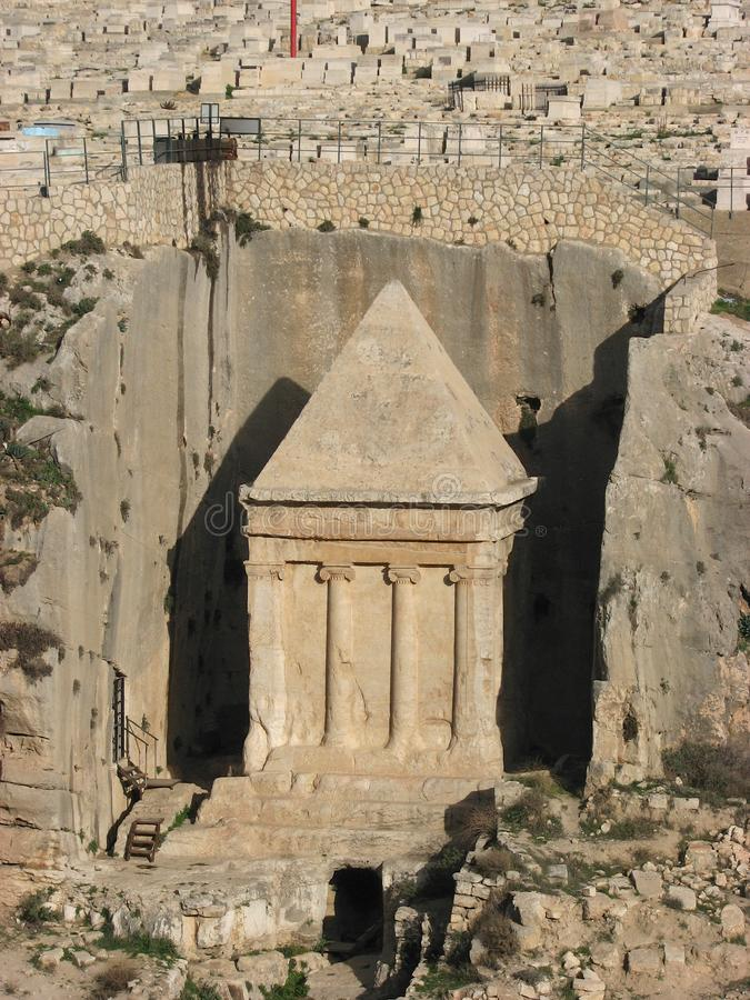 Grobowiec Zechariah, Jerozolima, Izrael fotografia stock