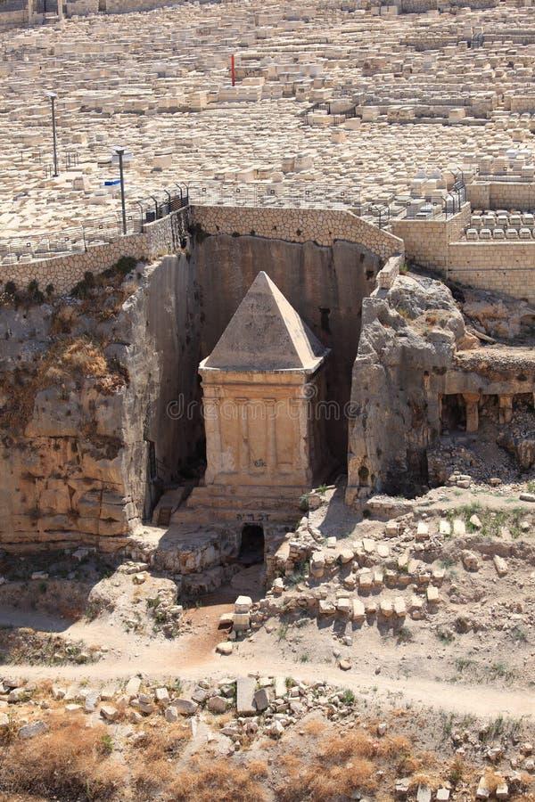 Grobowiec Zechariah w Kidron dolinie obrazy royalty free