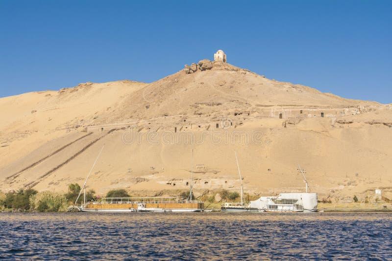 Grobowowie wielmoże w Aswan, Egipt obrazy royalty free