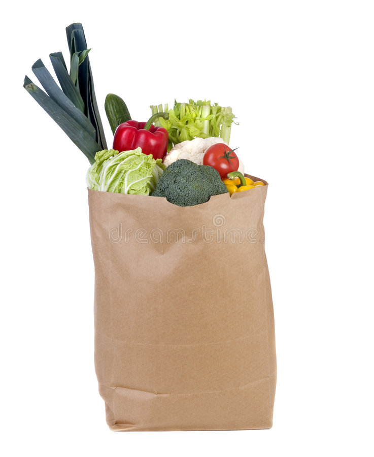 Download Groceries stock image. Image of natural, paper, grocery - 7220123