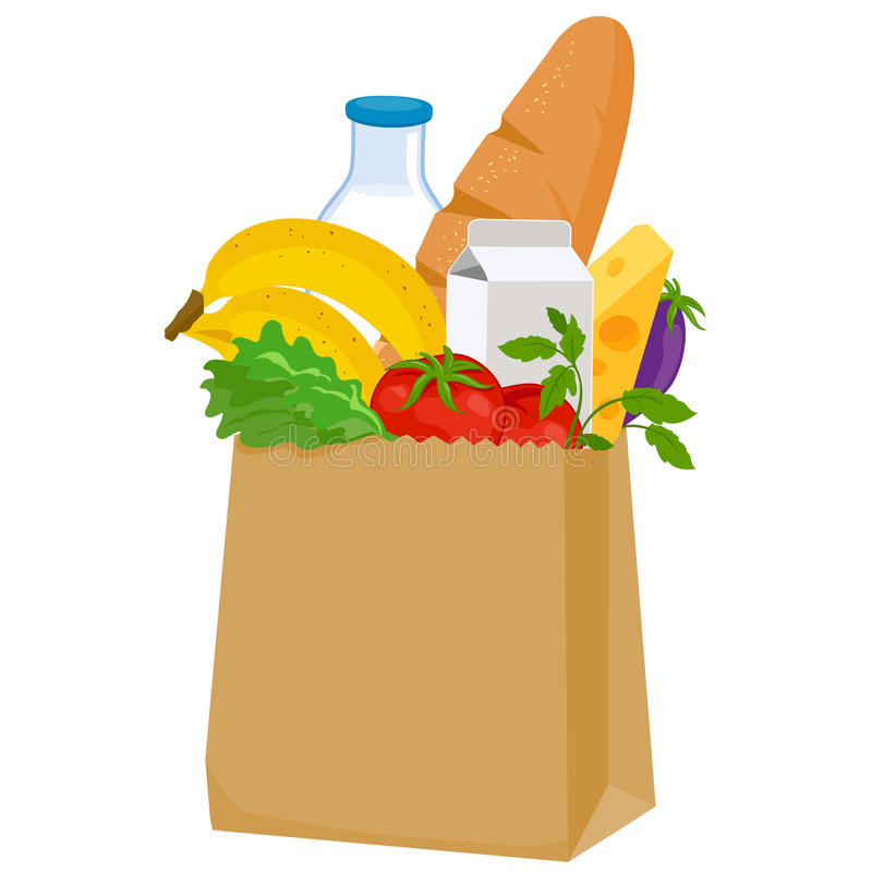groceries ilustración del vector