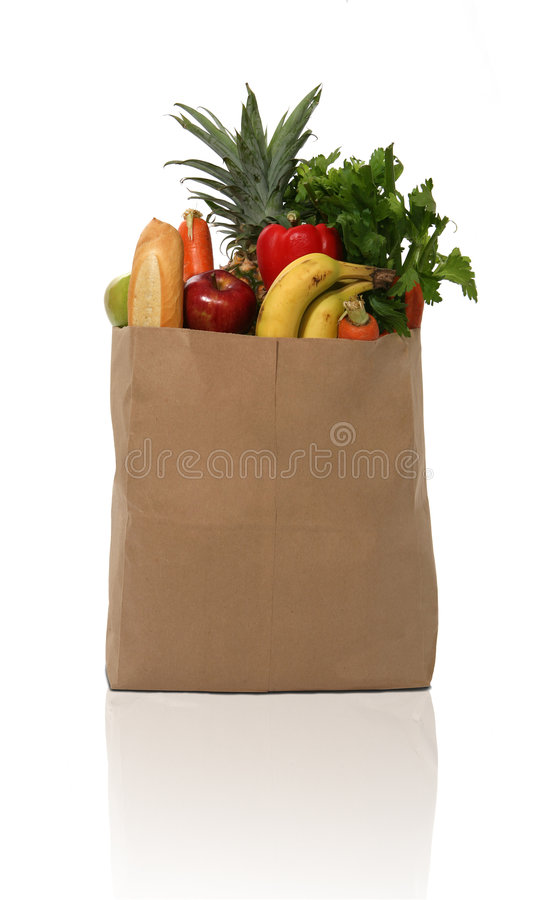 Groceries stock image
