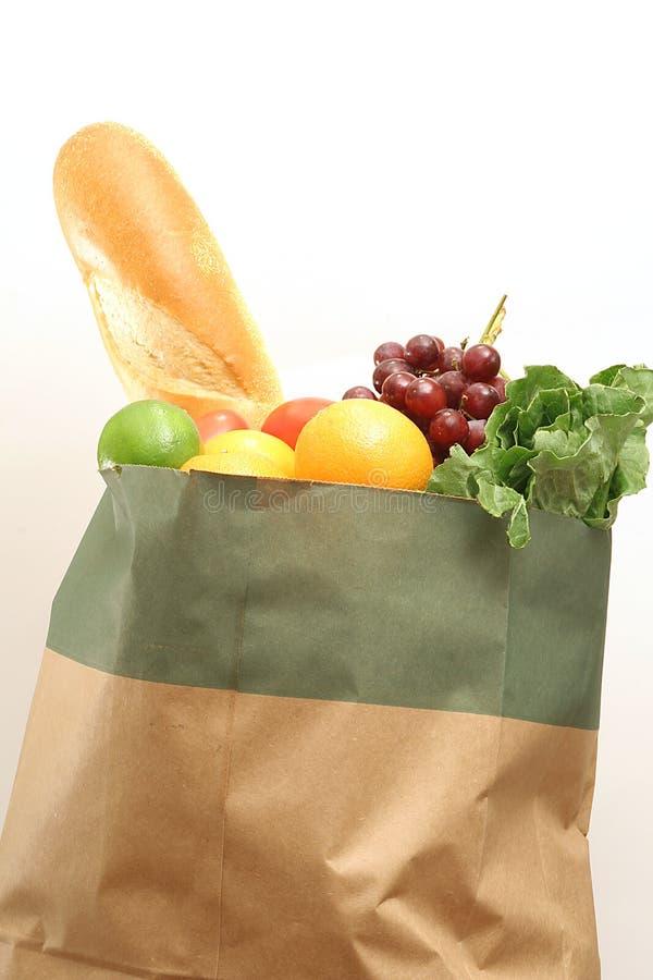 Groceries on white stock photos