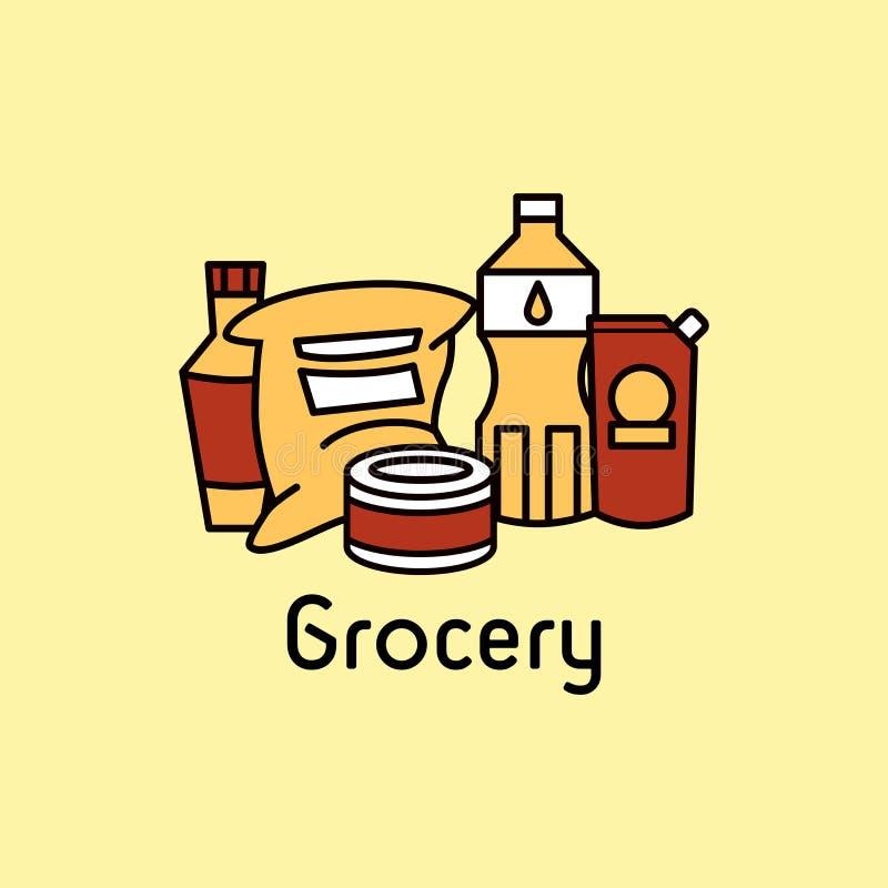 grocery stock de ilustración