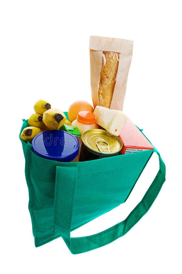 Download Grocery bag stock photo. Image of organic, isolated, ingredients - 10187896