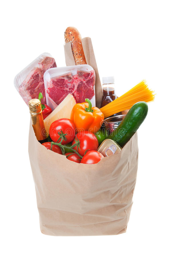 Free Grocery Bag Royalty Free Stock Photo - 17000725