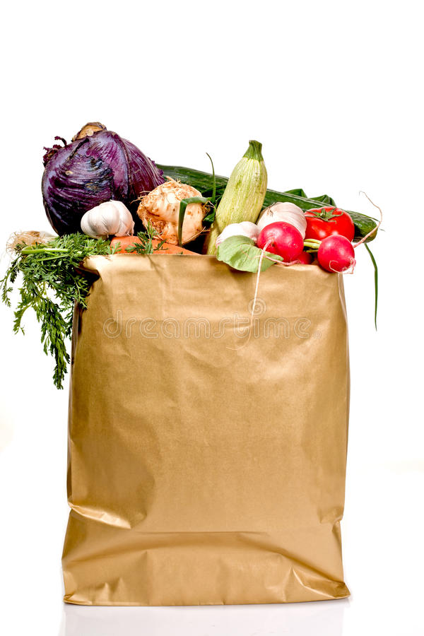Download Grocery bag stock image. Image of full, packet, food - 24515895