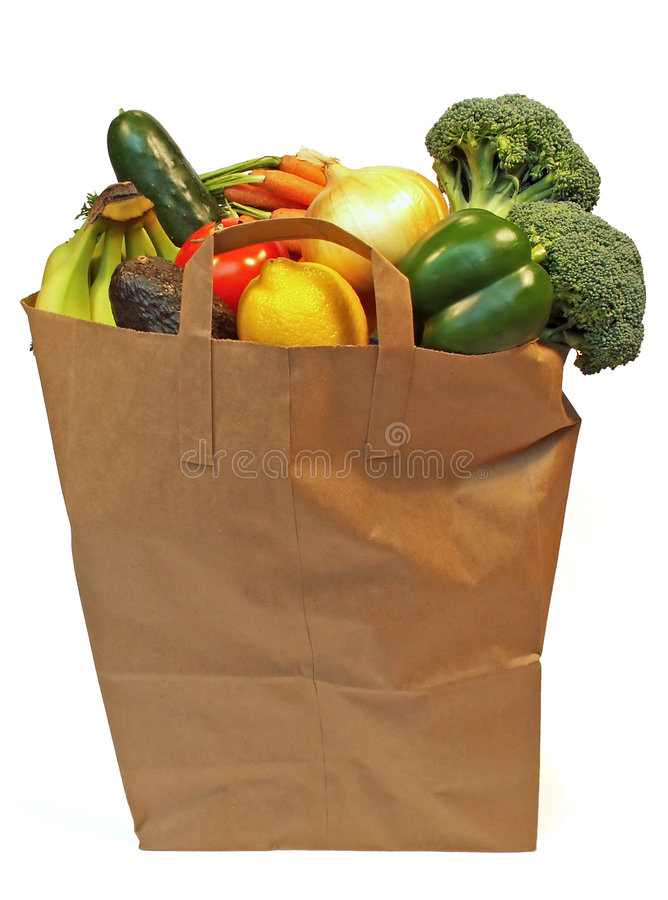 Free Grocery Bag Royalty Free Stock Photography - 536277