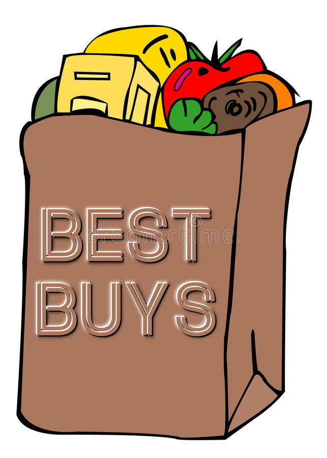 Grocery bag royalty free stock photography