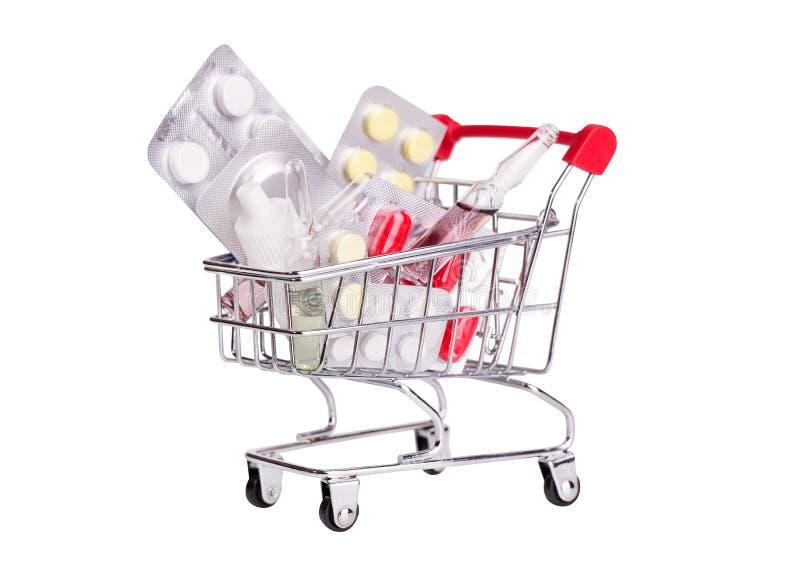 Drug basket isolate on white background royalty free stock photos