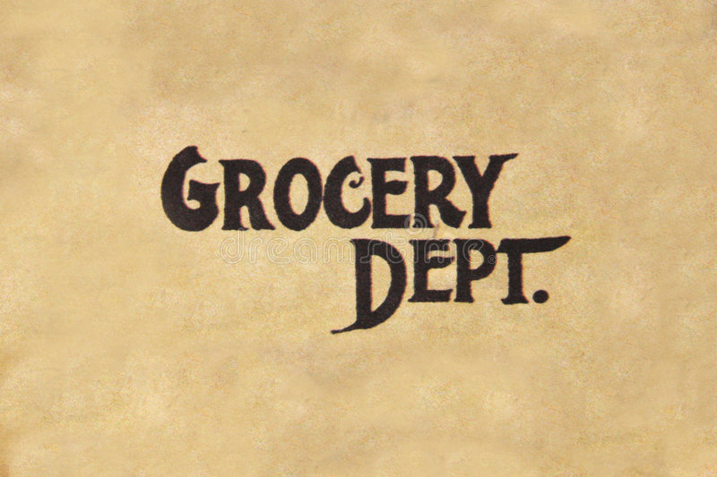 Download Grocery Dept. stock image. Image of dept, words, objects - 192269