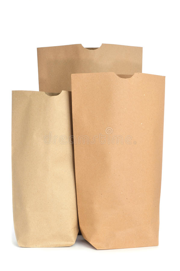 Grocery paper bags royalty free stock photography
