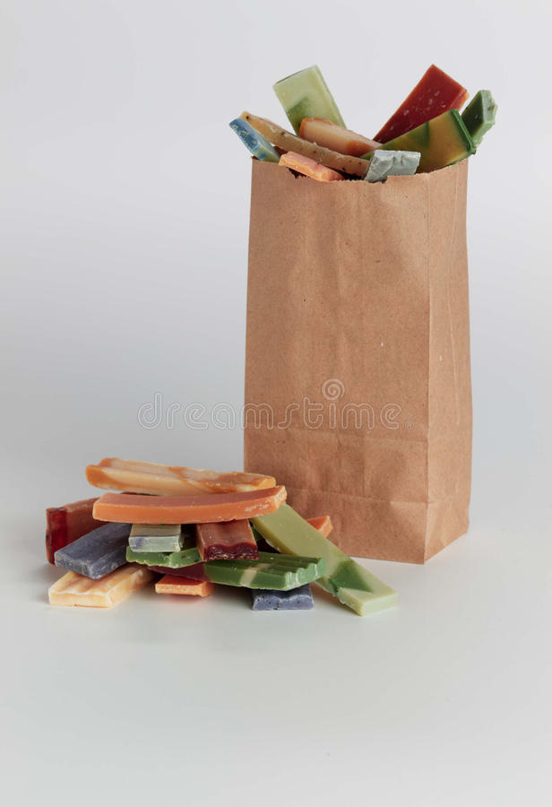 Free Grocery Sack With Soaps Royalty Free Stock Photography - 16283207