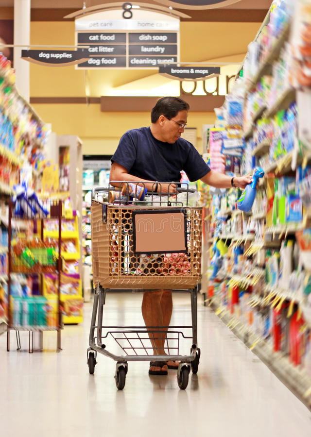 Download Grocery Shopping stock image. Image of husband, filipino - 15092707