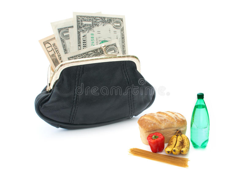 Grocery shopping concept royalty free stock photos