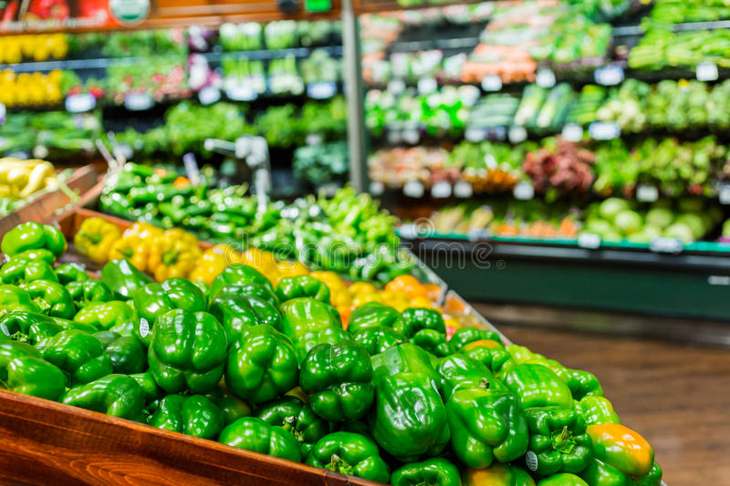 Grocery store. Fresh produce at the local grocery store royalty free stock photos