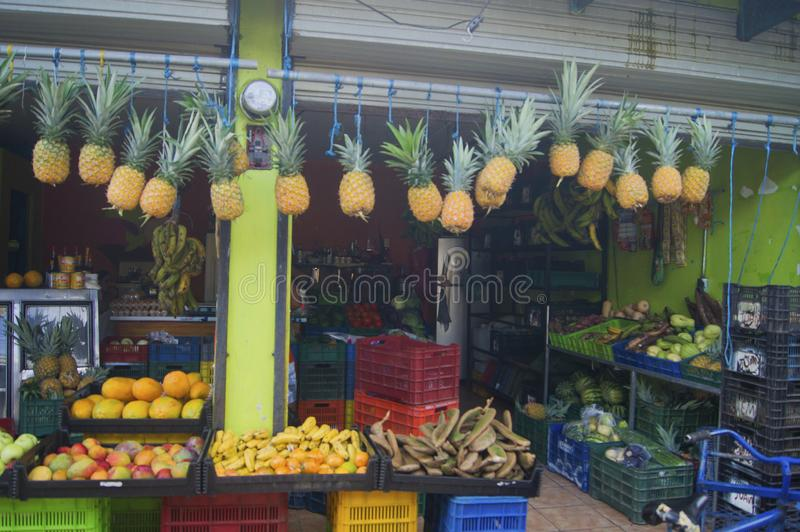 Grocery Store, Tortuguero Village, Costa Rica stock photography
