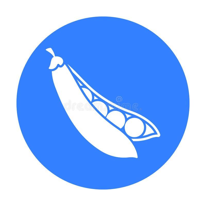 Groch ikony czerń Upala warzywo ikonę od eco jedzenia czerni royalty ilustracja