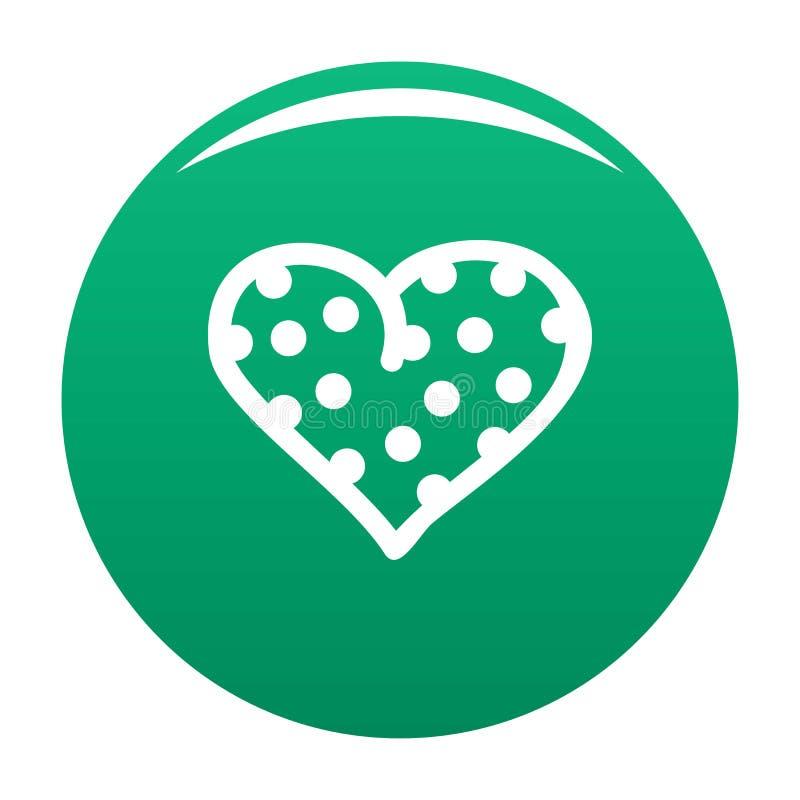 Grochowa kierowa ikona wektoru zieleń ilustracja wektor