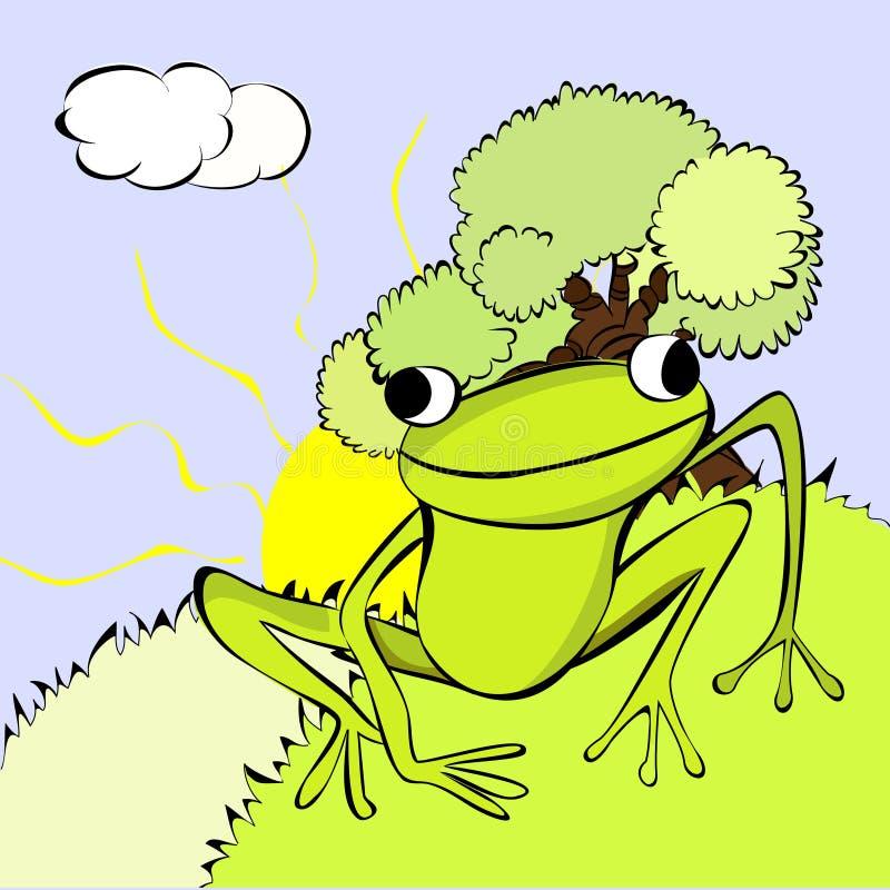 grodagreen vektor illustrationer